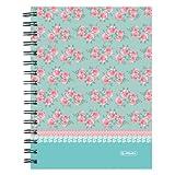 Herlitz Spiralboutiquebuch, A5, 2-er Pack, Motiv Ladylike Roses
