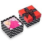 AOKE Reborn Baby Doll Mini Palm-Size Lifelike Cutest Sleeping Baby Flauschige Tasche Anhänger Ornament in Geschenkbox Rose