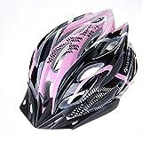 Ultra Light Weight - Spezialisierte Fahrradhelm, verstellbarer Sport Radsporthelm Fahrrad Fahrradhelme für Road & Mountain Biking, Motorrad für Erwachsene Männer & Frauen, Jugend - Rennen, Sicherheitsschutz ( Color : Pink black )