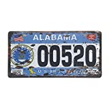 66retro Alabama 00520, US-Air Force, geprägt Vintage Blechschild, Retro Auto Nummernschild, 30 cm x 15 cm