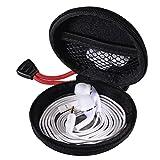 Hama Kopfhörer Tasche für In Ear Ohrhörer (robustes Hardcase, Netz-Innentasche, Karabinerhaken, Innenmaß 7 x 7 x 2,4 cm, Ohrstöpsel Schutztasche) schwarz