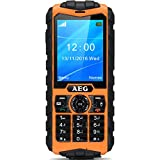 AEG M550 Outdoor Handy | 2,4 Zoll Farbdisplay | Kamera | IP 68 | Wasserdicht | Staubdicht | Dual SIM | simlockfrei