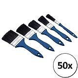 50 Malerpinsel Set -  5 verschiedene Größen  Mengenauswal - Pinsel Set Flachpinsel Lasurpinsel Satz Pinselset Pinselsatz