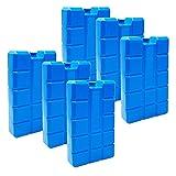 ToCi 6er Set Kühlakku mit je 400 ml   6 Blaue Kühlelemente für die Kühltasche oder Kühlbox