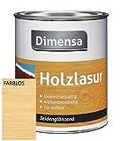 DIMENSA Holzlasur | Wetterschutzlasur | Holzschutzlasur | Premium Qualität | Außen | Aromatenfrei | 0,75l - Farblos
