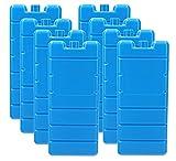 VonBueren 8X Kühlakkus für Kühltasche   12h   je Kühlakku 200 g   7,5 x 16,5 x 2 cm   auch für Kühlbox