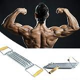 yingmu Tragbarer Pilates-Stab, Pilates-Stock-Sport-Eignungs-Ausrüstungs-Yoga-Holzgriff-Abzieher-Frühlings-Abzieher-Expander Everyone