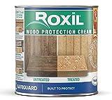 Roxil Holzschutz Creme-lasur - 10+ Jahre Witterungsschutz und Hydrophobierung - Einfache Anwendung dauerhafte Wirkung (1 Liter)
