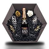 Moët & Chandon Grand Vintage Rosé 2013 12,5% 0,75 l Champagner Geschenkset inkl. 2x Moët Champagne Flöten & künstlerischer Deko