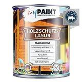 myPAINT® Holzschutzlasur (2,5L, Mahagoni) seidenglänzende Holzlasur Außen- Holz Grundierung - Holz Lasur - Holzlasur Aussen - Made in Germany