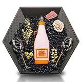Veuve Clicquot Brut Rosé Ice Jacket Champagne 12,5% 0,75 l Geschenkset inkl. 2x Veuve Clicquot Gläser mit orangenen Stiel & zauberhafte Deko