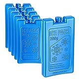 Cepewa Kühlakku für Kühltasche │ Coolpacks wiederverwendbar Verschiedene Größen │Kühlelemente von -18 bis +40° (1 x 6er Set Kühlakkus 11x16,5cm 200ml)