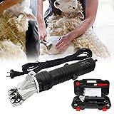 Wilktop 350W Schafschermaschine Set, Elektrische Schafschere Fellpflege Schermaschinen Clipper für Nutztiere