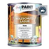 myPAINT® Holzschutzlasur (2,5L, Teak) seidenglänzende Holzlasur Außen- Holz Grundierung - Holz Lasur - Holzlasur Aussen - Made in Germany