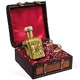 Gin Geschenkset Bolt G!N (0,5 l) mit 2 Tumblergläsern in antiker Kiste - Maison Privée